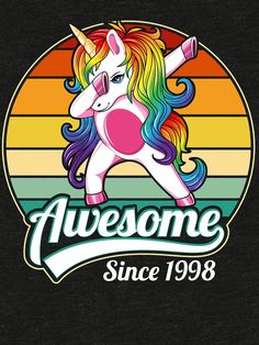 Awesome Since 1998 funny birthday gift idea for unicorn lovers. This funny vintage design featuring a Unicorn in dabbing pose makes a great present for men women, who born in or early Unicorn Mom, Unicorn Birthday, Funny Unicorn, 7th Birthday, Happy Birthday, Funny Birthday Gifts, Humor Birthday, Funny Nursing, Nursing Quotes