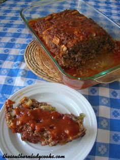 Brown Sugar Meatloaf-The Southern Lady Cooks