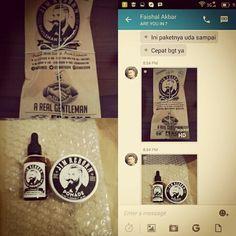 Thanks to Mr. Faishal for buying ✯ JIM REBORN ✯ BEARD GROWTH OIL & POMADE #JimReborn  #Gentlemans  #Grooming #cambang #jenggot #kumis