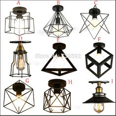 Cheap light therapy lamp, Buy Quality lamp amazon directly from China lighting gas lamp Suppliers: 	9 style Vintage Rustic Industrial Ceiling Light Europe Hallway Lamp Fixtures Dining Room Black Ceiling Lamp Metal Loft