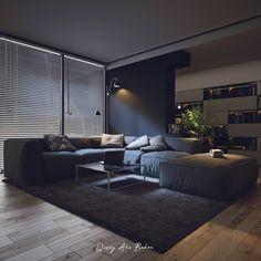 """Living Alone "" Black Interior design Interior Design Examples, Black Interior Design, Interior Design Inspiration, Home Room Design, Living Room Designs, Living Room Decor, House Design, Appartement Design, Dream House Interior"