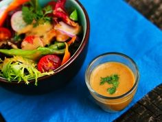 Quick and Easy Thai Peanut Vinaigrette. Quick and Easy Thai Peanut Vinaigrette Recipe. Perfect for salads sandwiches and burgers. Asian Recipes, New Recipes, Cooking Recipes, Favorite Recipes, Ethnic Recipes, Easy Recipes, Asian Foods, Vegetarian Recipes, Recipies