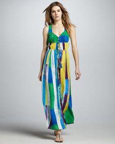 Women's Plenty Geometric-Inspired Maxi Dress