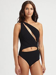 Emilio Pucci One-Piece Cutout Swimsuit