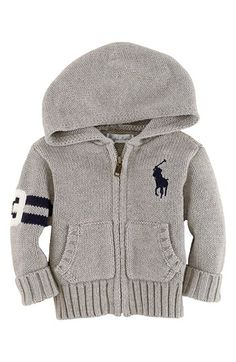 Ralph Lauren Zip Cardigan (Baby Boys) | Nordstrom.....baby clothes. LOVE!