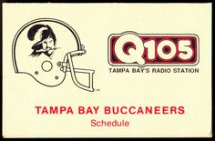 1988 TAMPA BAY BUCCANEERS OLD MILWAUKEE Q105 FOOTBALL POCKET SCHEDULE FREE SHIP