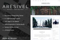 Aresivel -WordPress Blog Theme by wiloke on @creativemarket