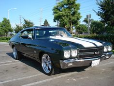 1970 Chevrolet Chevelle coupe SS / Super Sport with polished American Racing Torq Thrust II wheels