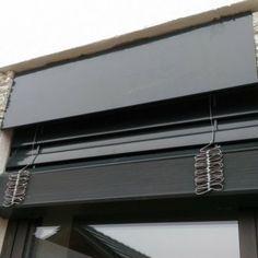 Venkovní žaluzie Z90 s přiznaným krycím plechem - realizace Břeclav Blinds, Curtains, Home Decor, Decoration Home, Room Decor, Shades Blinds, Blind, Draping, Home Interior Design