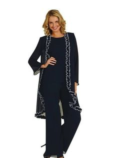 4fb39f4630268 2015 Fall New Long Sleeve Mother Of The Bride Pant Suits Custom Made  Gracefully Applique Long Chiffon Three Pieces Mothers Dresses Plus Size  Formal Dresses ...