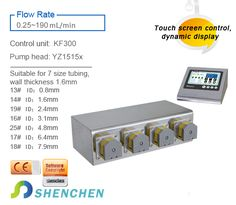 Model Category:Filling System(Intelligent Type) Product features Integrated design,a controller can units. Compact structure, compact size,beautiful appearance and saving space. Suitable for high precsion micro liquids filling in laboratory. Peristaltic Pump, Filling System, Control Unit, Compact, Channel, Cocktails, Industrial, The Unit, Type