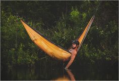 KAMMOK is a camping hammock that be hung anywhere. http://www.fishinglondon.co.uk/