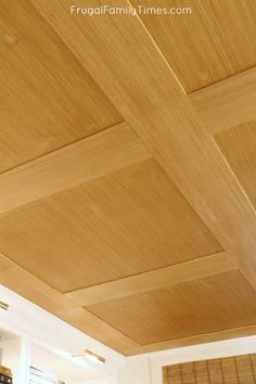 How to Make a Basement Plywood Ceiling (that looks like wood paneling!) How to Make a Basement Plywood Ceiling (that looks like wood paneling!