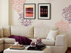 Wall decor stencil.  I used this in my treatment room at work in various shades of purple...love, love, love!