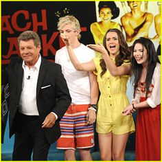 photo ross lynch with his �teen beach movie 2� cast in