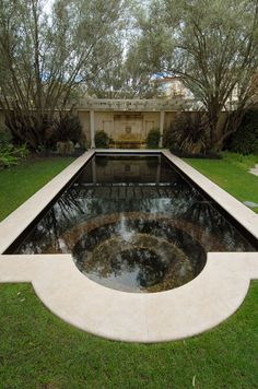 Spaces Pool In Small Yard Design, Pictures, Remodel, Decor and Ideas - page 7 Swimming Pool Heaters, Small Swimming Pools, Outdoor Swimming Pool, Black Bottom Pools, Small Yard Design, Patio Design, Sunken Hot Tub, Inground Pool Designs, Rectangle Pool