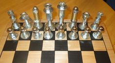 homemade chess set