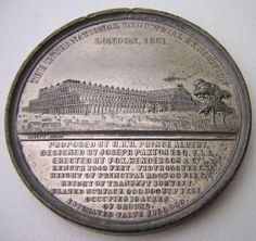 1851 London World's Fair Crystal Palace Medal. Victoria Queen Of England, Victoria And Albert, Queen Victoria, Exhibition Building, Exhibition Space, Glass Building, Palace London, Glass Structure, History Class