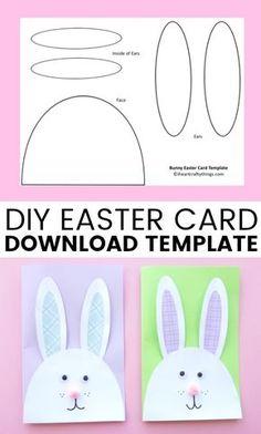 Cutest Bunny DIY Easter Card | I Heart Crafty Things