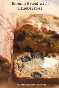 Garden Gift Ideas and Moist Banana Bread Recipe with Blueberries | reluctantentertainer.com