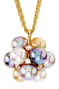 Pearl and diamond cluster