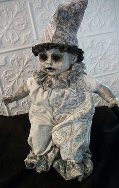 Lonesome Milky Doll Monster Alternative Art Gothic by Lorcheenas, $95.00