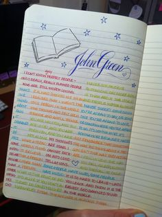 pick someone you enjoy reading and dedicate a page to quotes from that one author ~ good idea