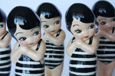 Swimmers. Originally plaster doll from the 20s