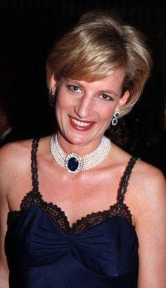 December, 1996: Princess Diana during The Costume Institute Gala Honors at the Metropolitan Museum of Art in New York City.