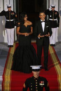 Michelle Obama veste Vera Wang (Foto: Getty Images)