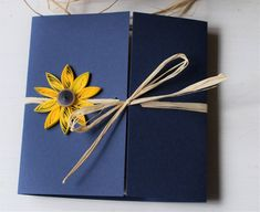 invitations sunflower Sunflower and navy wedding invitation Sunflower and blue invitation Sunflower wedding theme Navy blue invite Sunflower wedding Sunflower Wedding Invitations, Navy Wedding Invitations, Unique Invitations, Invitation Ideas, Sunflower Wedding Decorations, Sunflower Weddings, Paper Sunflowers, Wedding Bridesmaids, Bridesmaid Gowns