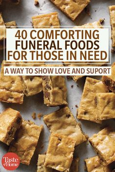 40 Comforting Funeral Foods For Those in Need is part of food_drink - For tough times, comfort food is the hug we all need Bringing dishes like baked sandwiches, cheesy potatoes and pasta salads are a great way to show your love and support Potluck Dishes, Potluck Recipes, Dessert Recipes, Cooking Recipes, Oven Recipes, Vegetarian Cooking, Easy Recipes, Potluck Meals, Potluck Desserts