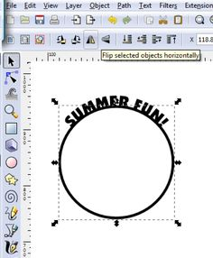 Text on a circle (InkScape)