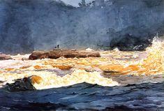 """Fishing the Rapids""  Winslow Homer."