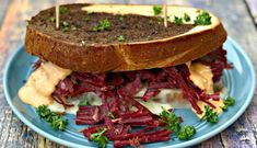 This post may contain affiliate links. Please read my full disclosure here. Instant Pot Corned Beef Reuben Sandwich is an easy pressure cooker recipe with braised corned beef brisket. These sandwiches are great to Reuben Sandwich, Sandwich Recipes, Cooking Corned Beef, Corned Beef Brisket, Alton Brown, Easy Pressure Cooker Recipes, Potted Beef Recipe, Dressing, Quick Weeknight Dinners