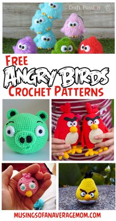 25+ free angry birds and pigs crochet patterns Minion Crochet Patterns, Minion Pattern, Pokemon Crochet Pattern, Crochet Beanie Pattern, Crochet Hats, Frozen Crochet, Crochet Disney, Mario Crochet, Harry Potter Crochet