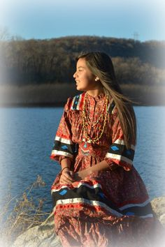 """Tear dress (Cherokee) ~ """"tear"""", because they tore the fabric into specific size rectangles (custom fit), rather than use scissors -- much the same way that all peasant and folk clothing is usually made"""