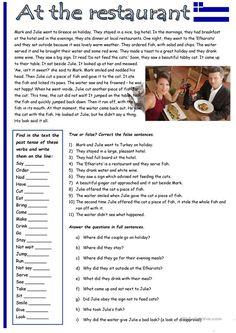 English Grammar For Kids, Teaching English Grammar, English Grammar Worksheets, English Reading, French Language Lessons, English Lessons, Learn English, English Language, Reading Comprehension Worksheets