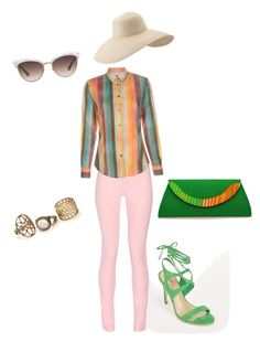 """""""Festival weekend with #reeta @justfabonline #justfabstyle #ootd #weekendfun"""" by gretandunn on Polyvore featuring JustFab, Maison Kitsuné, Paul Smith, Gucci and Eric Javits"""