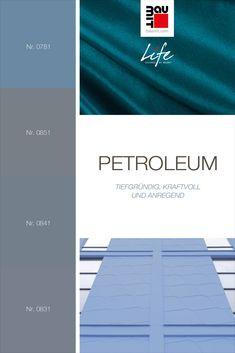 Petroleum besteht hauptsächlich aus Grautönen mit eingemischten Nuancen von Blau. Es wirkt tiefgründig, kraftvoll und anregend. Petroleum passt als Akzentfarbe hervorragend zu hellen bis mittleren Grautönen, aber auch zu Staubbraun oder kühlem Rot oder Gelb. Diese Farbe ist gedeckter als andere Blauversionen und bietet eine authentischere Optik. #farbpsychologie #Farbtrends2020wohnen #Farbtrends2020 #Farbtrend #Farbtrendswohnen #blau #farbinspiration #petroleum #wandfarbe #fassadestreichen Finding Yourself, Chart, Colours, Red, Blue, Paint, Yellow, Get Tan