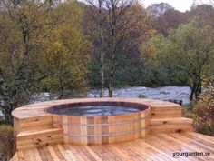 Hot Tub In Backyard Ideas above ground hot tubs designed to look in ground above ground spa surround questions hot tub backyardsmall Find This Pin And More On Garden Ideas Seaotter Wooden Hot Tubs