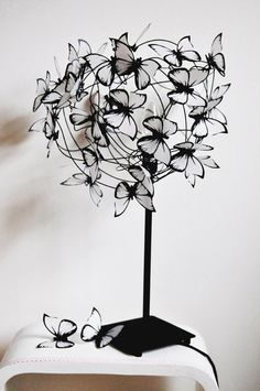 "Lamp with butterflies ""Barbara"""