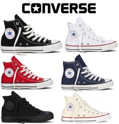 Converse All Star Mens Womens High Hi Tops Unisex Chuck Taylor Trainers Pumps Sneakers Mode, Slip On Sneakers, Slip On Shoes, Sneakers Fashion, High Top Sneakers, Converse Sneakers, Shoes Heels, Converse Classic, Converse All Star Mens