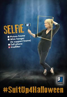 But first, let me take a selfie... Are you ready for Halloween? A selfie is such an easy DIY costume that you can throw together with items from your closet or a trip to Goodwill!