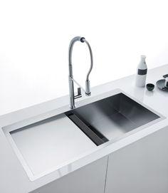 Productos: Crystal Line 210 de Franke Kitchen Furniture, Kitchen Interior, Kitchen Dining, Kitchen Accessories, Kitchenware, Home And Living, Modern Architecture, Sink, Interior Design