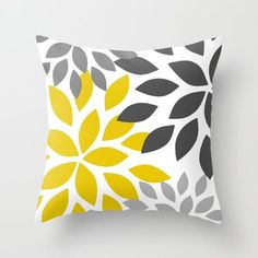 Throw Pillow Covers Yellow Grey White Couch Cushion Covers H.- Throw Pillow Covers Yellow Grey White Couch Cushion Covers Home Decor Living Room Pillow Throw Pillow Covers Decorative Pillows - Diy Throw Pillows, Yellow Throw Pillows, Outdoor Throw Pillows, Throw Pillow Covers, Decorative Pillows, Bed Pillows, Yellow Couch, Yellow Cushions, Couch Cushion Covers