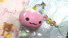 Cute pink white head squishy Punifujichan squishy♪^^