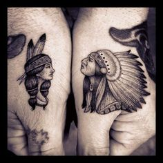 chief and indian tattoo That's actually pretty cool