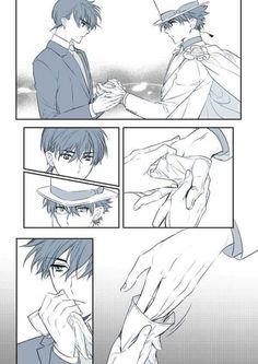 Ran And Shinichi, Kudo Shinichi, Conan Comics, Kaito Kid, Amuro Tooru, Manga Boy, Anime Boys, Magic Kaito, Cool Art