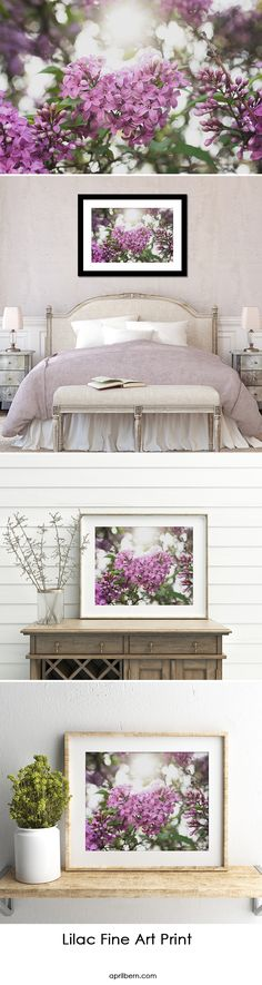 Lilac Heart Art Print by april bern photography